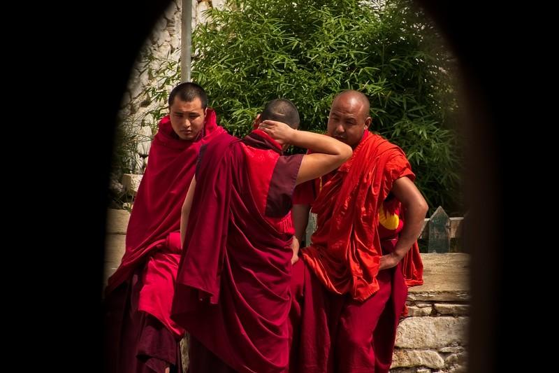 bhutan monks socialising.jpg