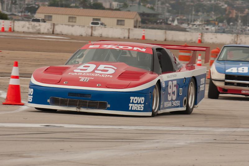 Phil Mendelovitz is on the apex of turn nine in his 1989 Nissan 240SX.