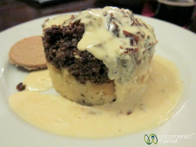 Haggis, Mashed Potatoes and Whisky Cream Sauce - Edinburgh, Scotland