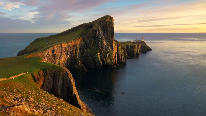 Neist Point Lighthouse sunset Isle of Skye.jpg