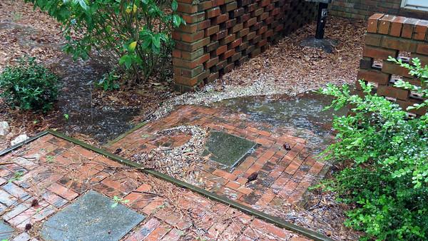 April 5:  An unusually heavy rainstorm .  .  .