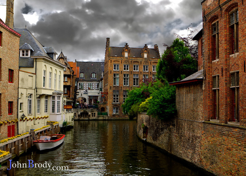 Brugges Belgium - A typical canal in the quaint town - A Photograpers delight - JohnBrody.com