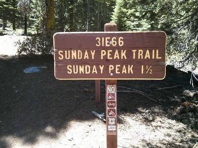 Sunday Peak - July 3, 2014