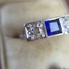 .40ctw 3-Stone Sapphire and Diamond Band by Relais 17