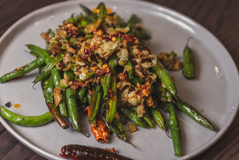 Sichuan Dry Fried Beans