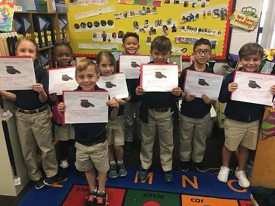 "Our newest ""Oreo Cookie"" Handwriting Award winners!"