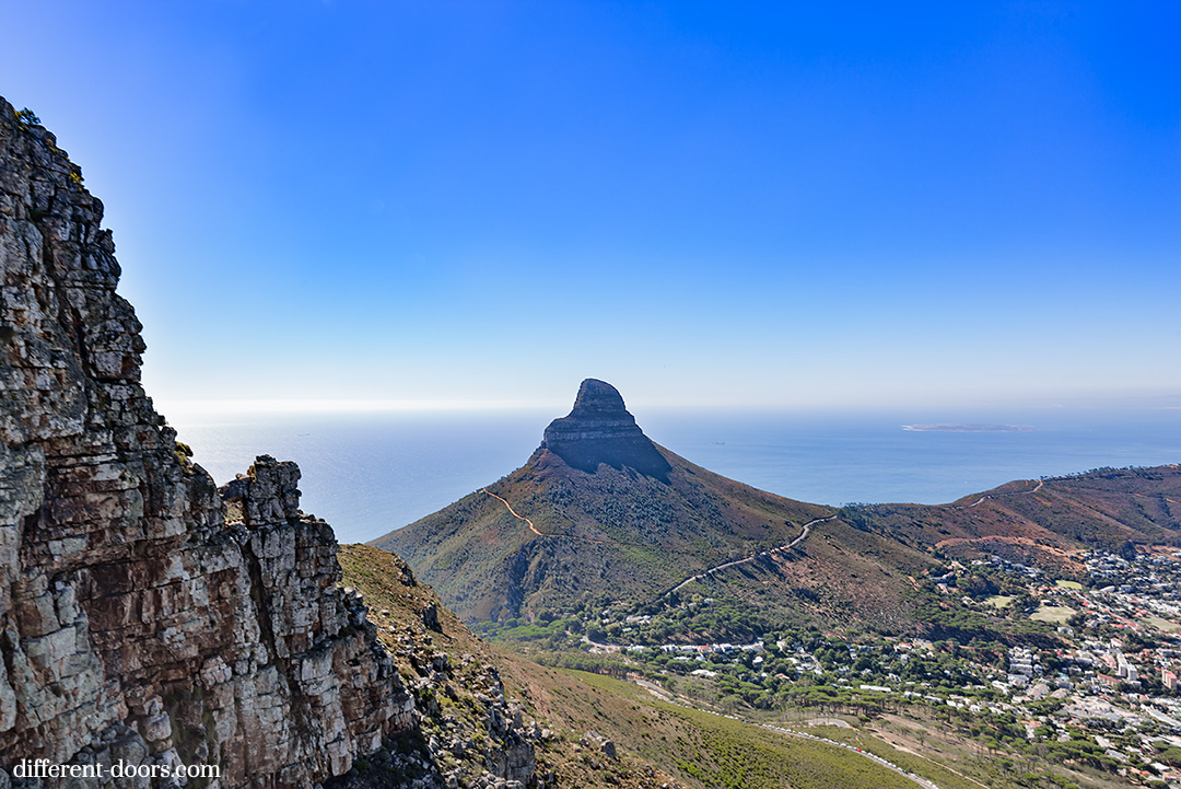 Table Mountain, Cape Town, South Africa, hiking, scale model