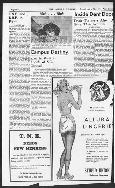 "Illustrated Daily Yellow Dog. Vol. ""T.N.E."", No. ""T.N.E."", May 07, 1935"