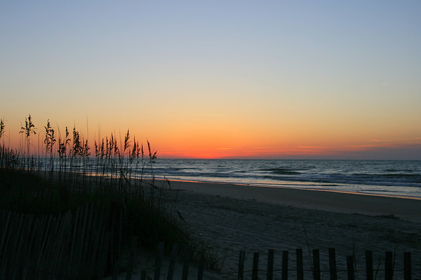 North Myrtle Beach Sunrise & a Moon shot 9-29-07
