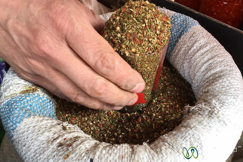 Spice Mixtures at the Osh Bazaar - Kyrgyzstan