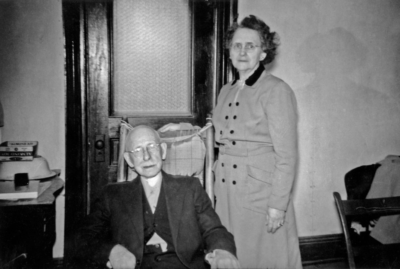 Walter with unknown lady