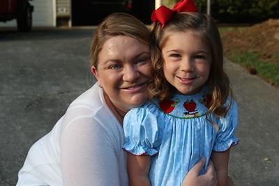 Ella's first day of kindergarten