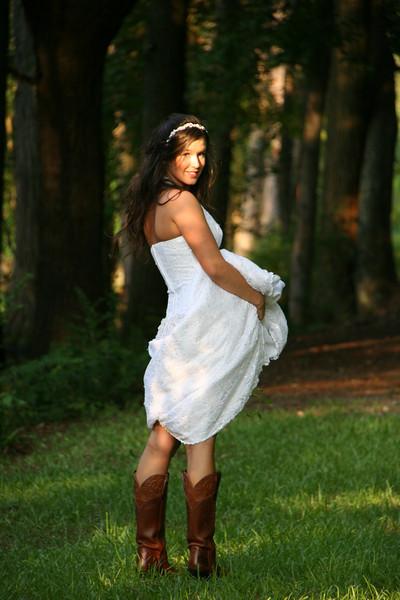 Heather in Wedding Dress 6.8.09