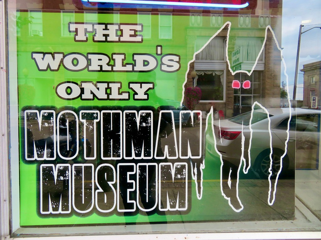 Mothman Museum sign in Point Pleasant West Virginia
