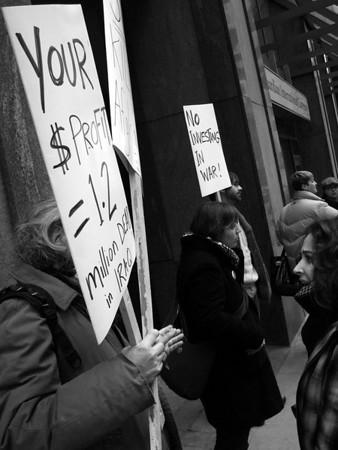 Confront Canadian War Profiteers: Activists picket Canada Commercial Corporation