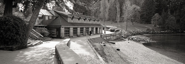 Boathouse Shot with a Hasselblad XPAN and Ilford Delta 100