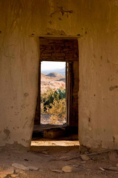 Through the open door - Terlingua Ghost Town ruins