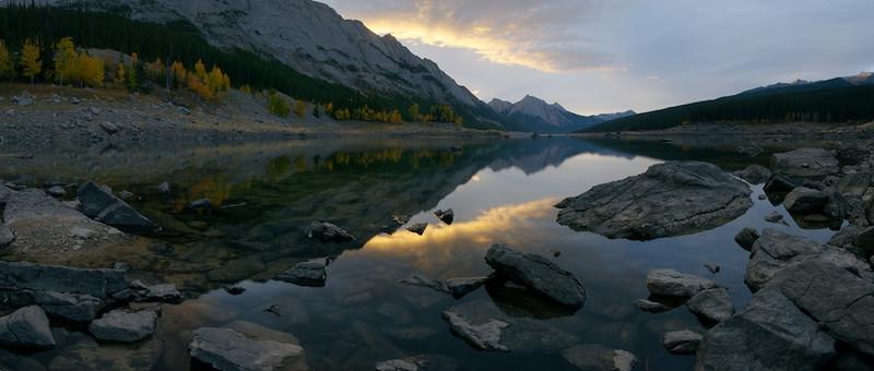 Sunrise on Medicine Lake