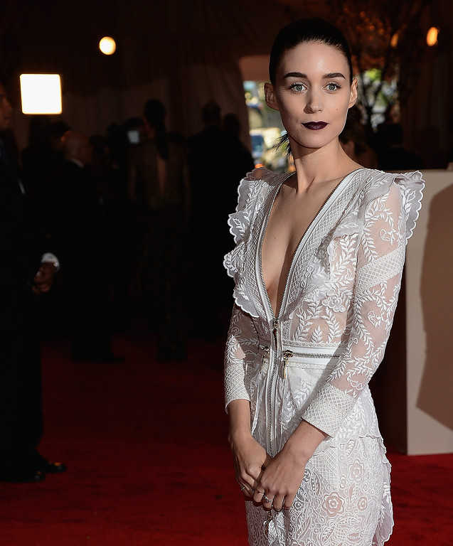 . Rooney Mara attends the 2013 Costume Institute Gala - PUNK: Chaos to Couture at Metropolitan Museum of Art on May 6, 2013 in New York City.  (Photo by Dimitrios Kambouris/Getty Images)