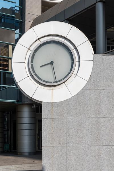 Clock at NHK Hiroshima Building