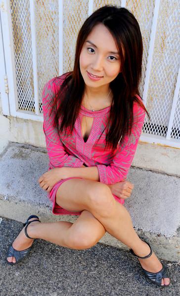 beautiful woman model red dress 196.435.45
