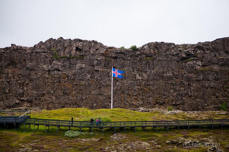 Thinkgvellir National Park Icelandic Flag