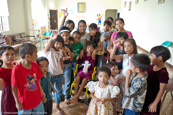 Wheelchair Delivery to Queen of Peace Children's Home