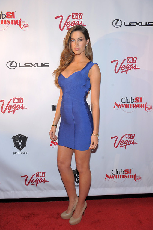 . Sports Illustrated swimsuit model Katherine Webb attends Club SI Swimsuit at 1 OAK Nightclub at The Mirage Hotel & Casino on February 14, 2013 in Las Vegas, Nevada.  (Photo by Michael Loccisano/Getty Images for Sports Illustrated)