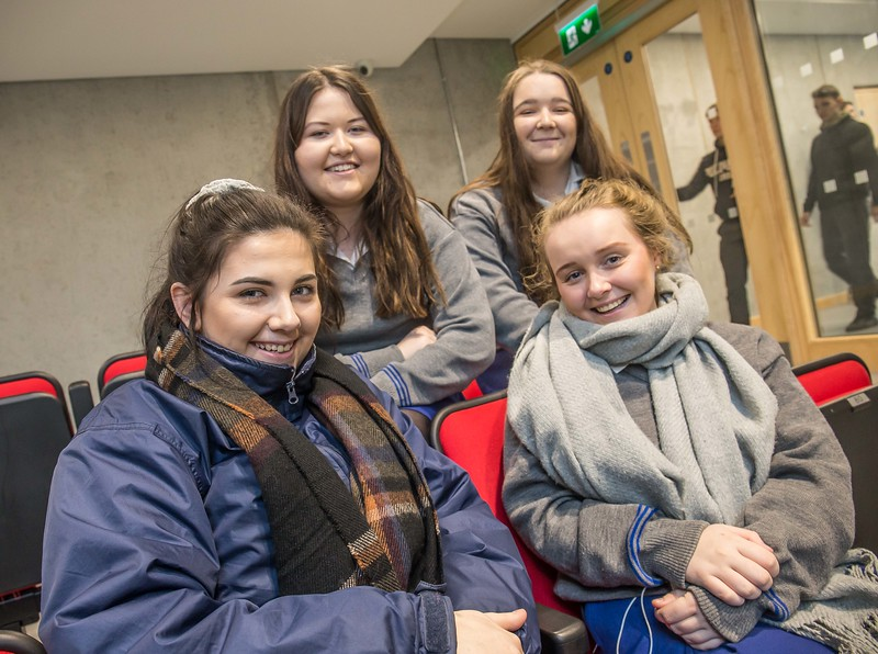 Heather Campion, Amanda O'Neill, Rachel Murphy and Sophie Harold, Loreto Secondary School, Kilkenny during the Waterford Institute of Technology Schools' Open Day at the WIT Arena. On Saturday, 20 January, WIT is running another open day, the #StudyatWIT Open Day which will have information available on all courses available across WIT's schools of Lifelong Learning, Humanities, Engineering, Science & Computing, Health Sciences, Business. Picture: Pat Moore