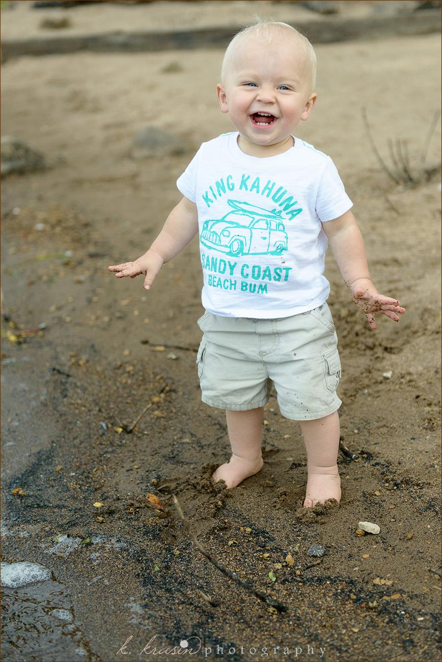 Beach giggles