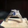 Art Deco Sapphire and Diamond Mounting 16