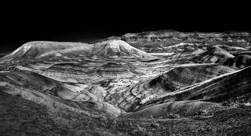 Painted Hills - IR converted BW