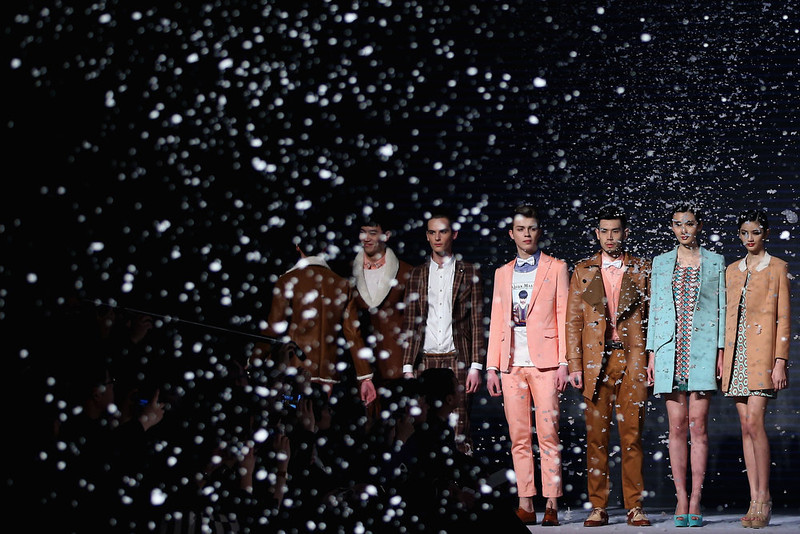 . Models showcase designs on the catwalk during VISCAP Yuan Bing Collection on the third day of Mercedes-Benz China Fashion Week Autumn/Winter 2013/2014  at Banquet Hall of Beijing Hotel on March 26, 2013 in Beijing, China.  (Photo by Feng Li/Getty Images)