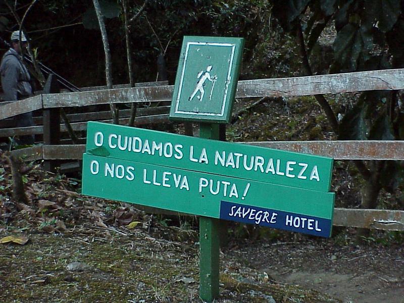 Savege Mountain Lodge sign in Costa Rica 2-14-03 (50898258)
