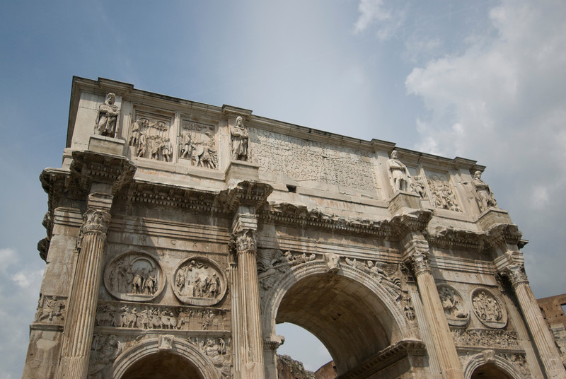 The Arch of Titus in Rome, Italy
