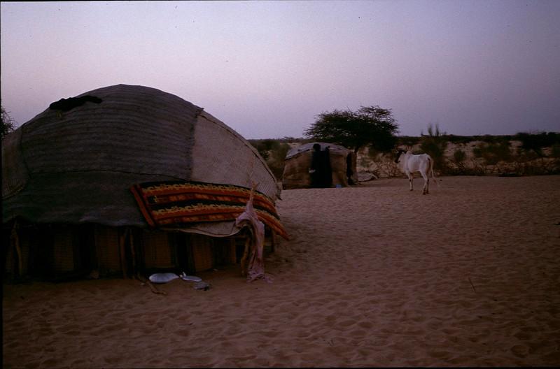 sleeping in Toureg camp