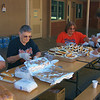 Bulldog Booster's working hard to get food ready for the players and parents