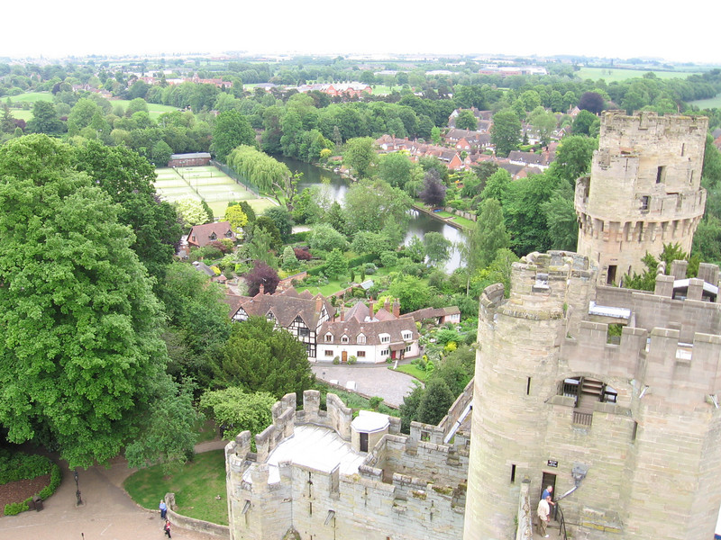 View from Guy's Tower, Warwick Castle