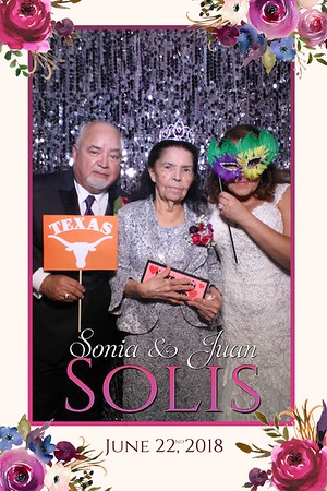 Sonia and Juan's Munster Wedding Mirror Photo Booth