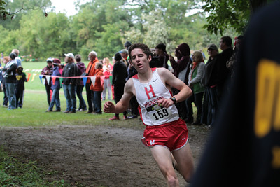Boys D2 at 2.1 mile mark - 2014 Nike Holly Duane Raffin Cross Country Invite