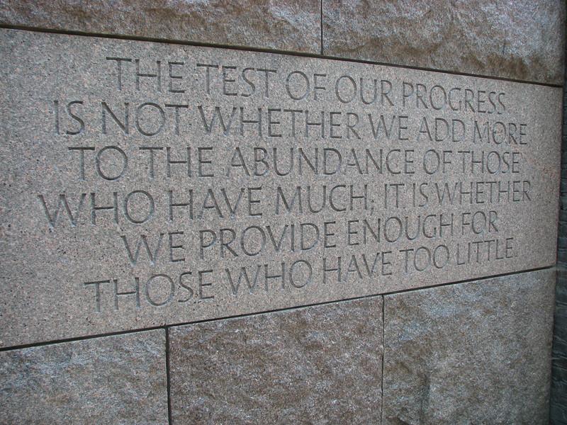 Fantastic FDR quote!