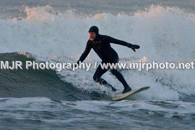 Surfing, Gilgo Beach, NY,  (2-21-07)