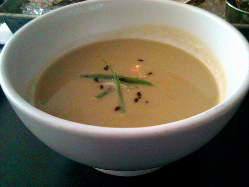Kabuto Japanese Restaurant - Roasted Spring Artichoke Soup