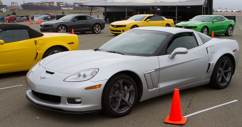Next was a Z03 Corvette.  This is definitely an E-ticket ride.  When leaving the line there was a brief pause for the traction control system to let things get rolling then, with a healthy roar, the V8 kicked in to fly down the course.  You could hear the roar at the other end of the runway.