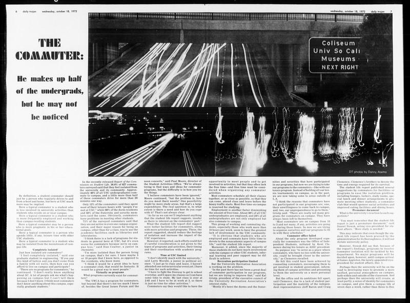 Daily Trojan, Vol. 65, No. 21, October 18, 1972