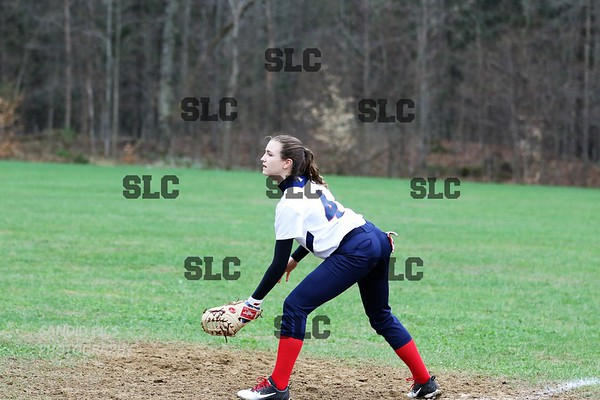 SLC GIRLS JV MASSENA GAME CALLED WITH THE RAIN 5/3/2018