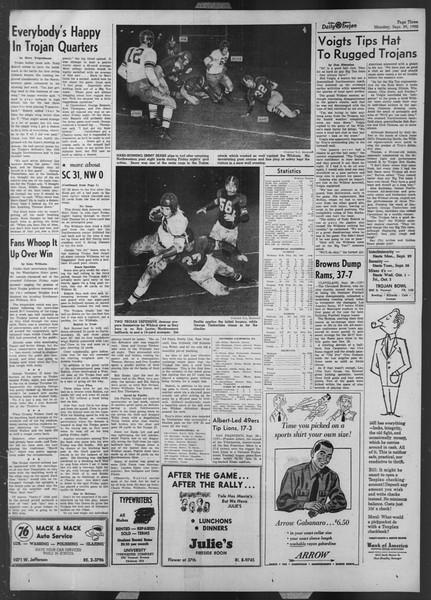 Daily Trojan, Vol. 44, No. 11, September 29, 1952