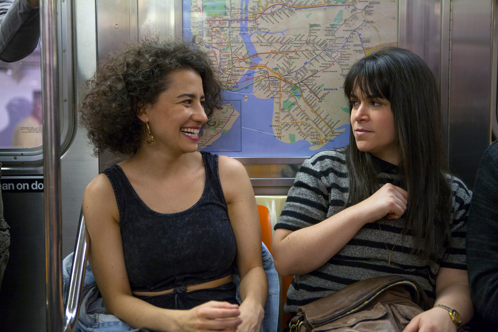 ". Ilana Glazer and Abbi Jacobson (l-r) \""Broad City.\"" (Photo by Linda Kallerus)"
