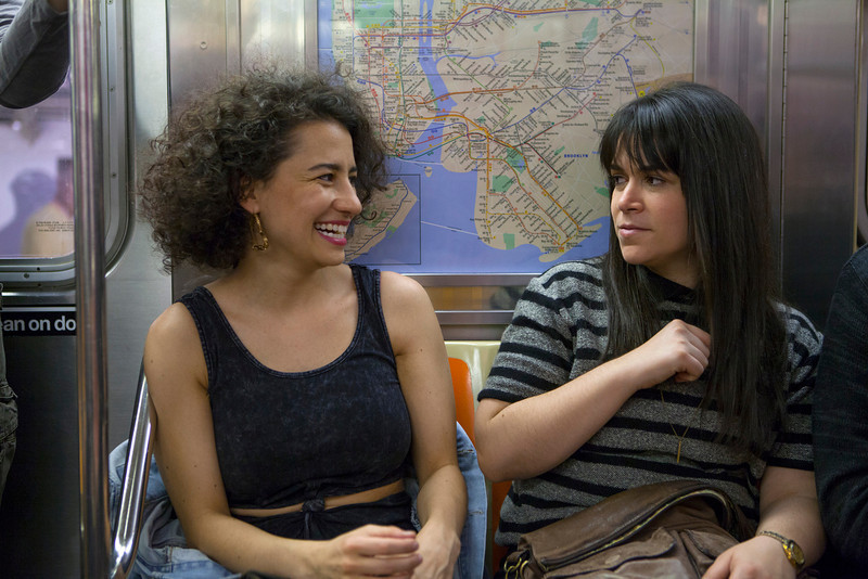 ". Ilana Glazer and Abbi Jacobson (l-r) ""Broad City.\"" (Photo by Linda Kallerus)"