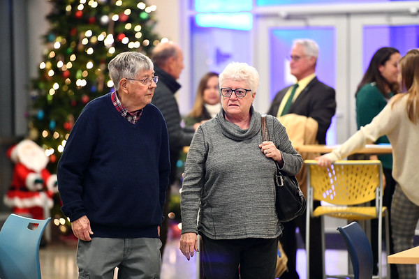12/5/2019 Mike Orazzi | StaffrJohn and Sharon Werner during the 5 Year Celebration of the Boys and Girls Club's new structure on West Street Thursday evening.